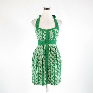 Green ANTHROPOLOGIE FLOREAT sun dress 0